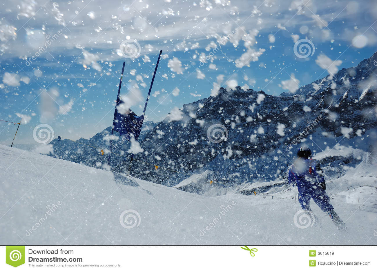 Slalom narciarski wyścigu