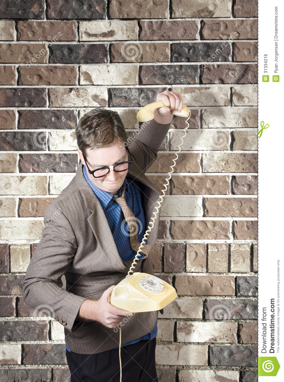 Slamming Down The Phone Like A Boss Stock Photo Image Of Concept Fail 31334218