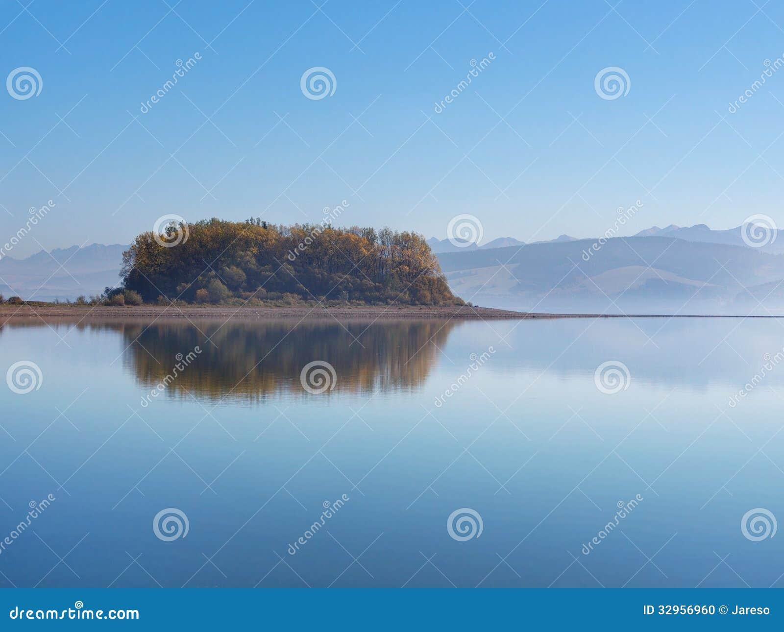 Slanica Island early in the morning