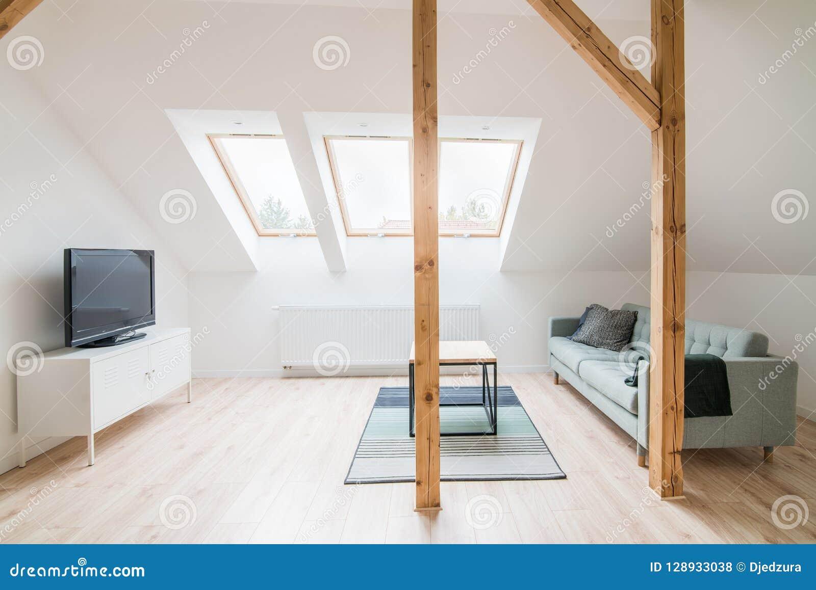 Tremendous Slanted Ceiling Living Room Stock Photo Image Of Furniture Home Interior And Landscaping Dextoversignezvosmurscom