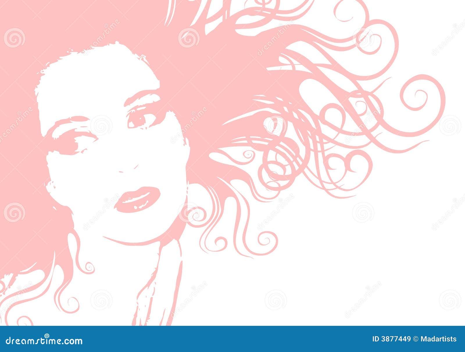 Slapp pink för framsidakvinnlighår