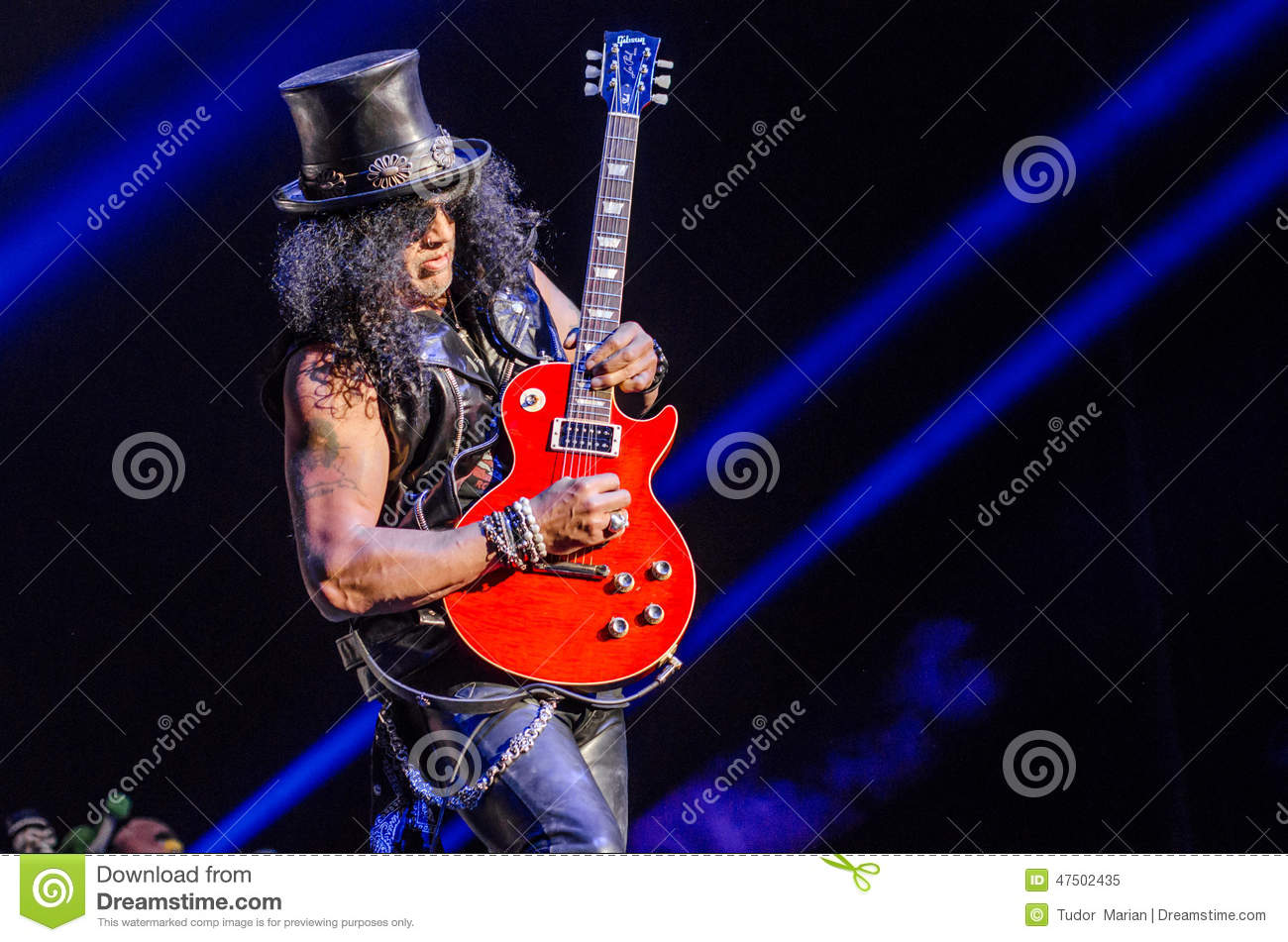 slash editorial image image of concert riff guitarist 47502435. Black Bedroom Furniture Sets. Home Design Ideas