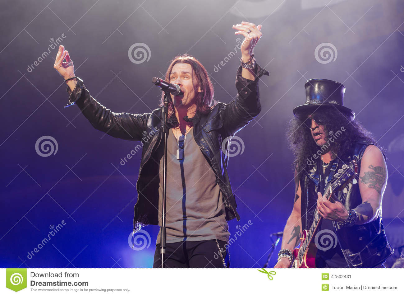 slash and myles kennedy editorial photo image 47502431. Black Bedroom Furniture Sets. Home Design Ideas