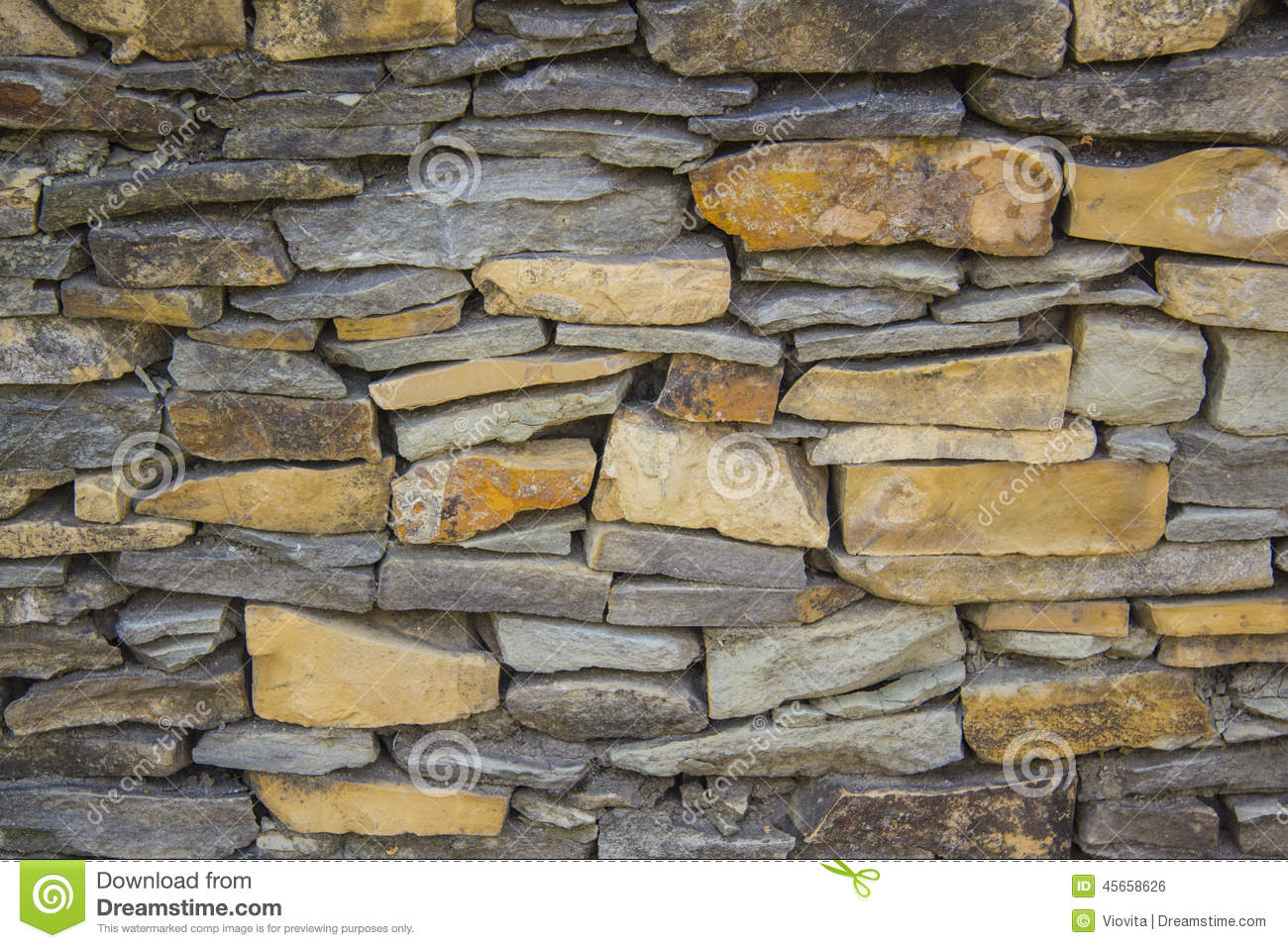 Slate Stone Wall Texture Stock Photo Image 45658626