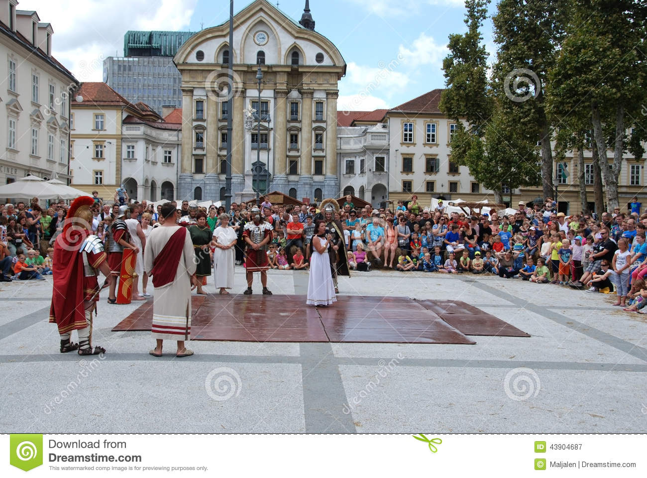 Slave Market In Ancient Roman City Editorial Photography ...