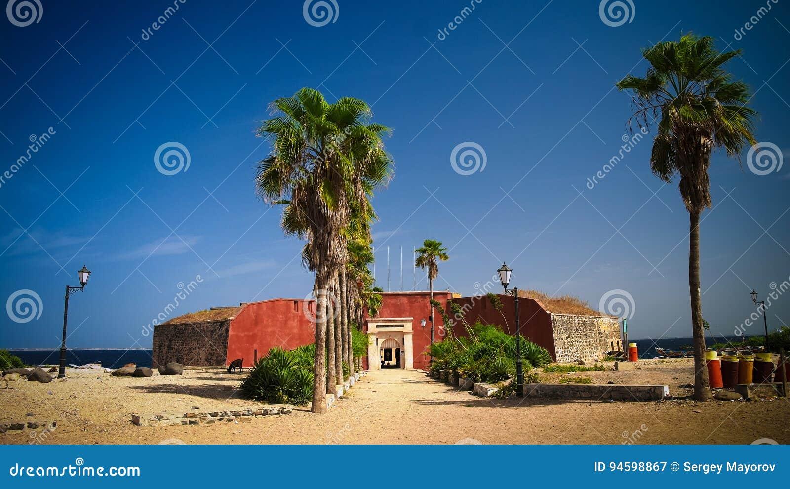 Slavery fortress on Goree island, Dakar, Senegal