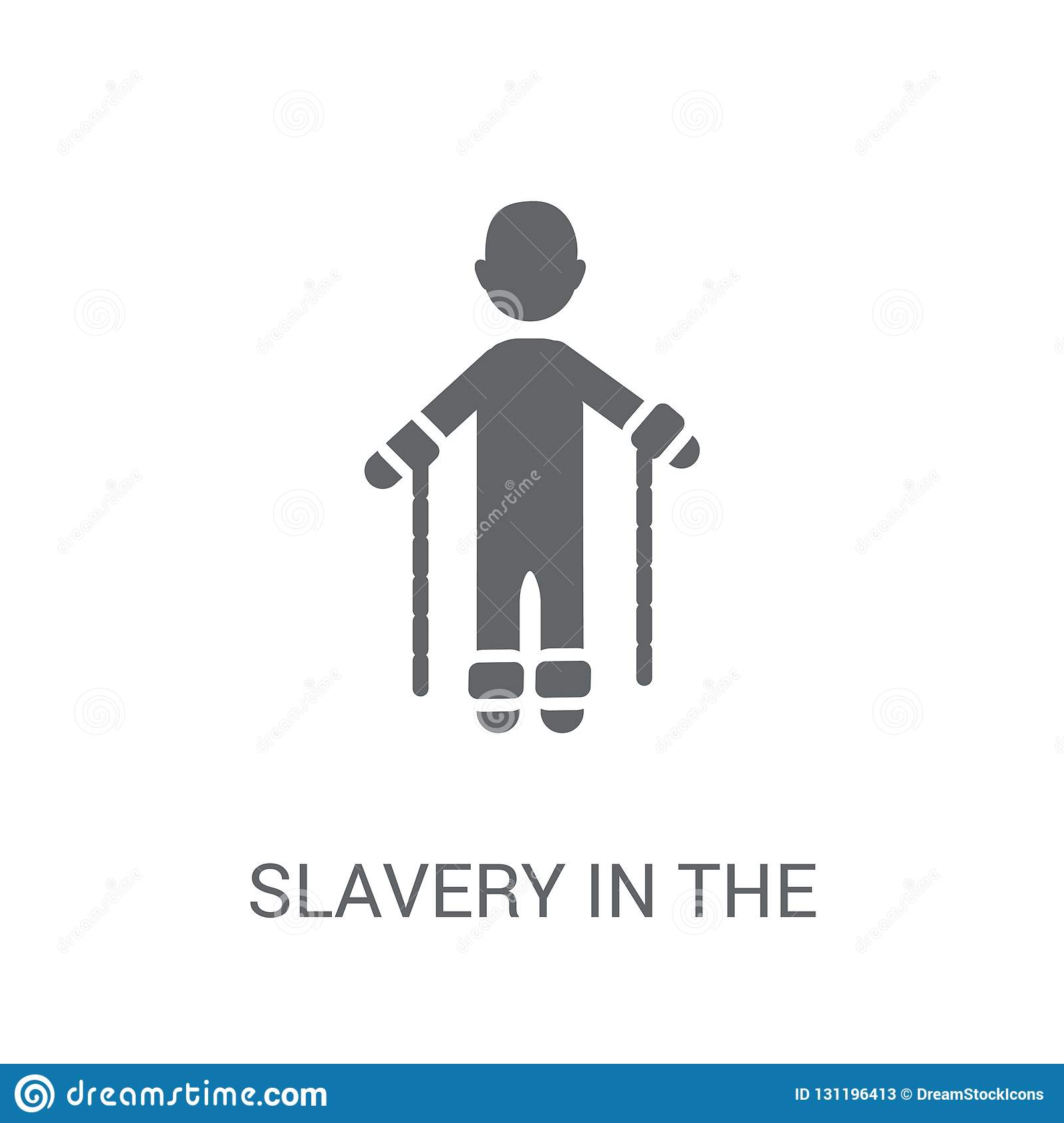 slavery in the united states icon. Trendy slavery in the united
