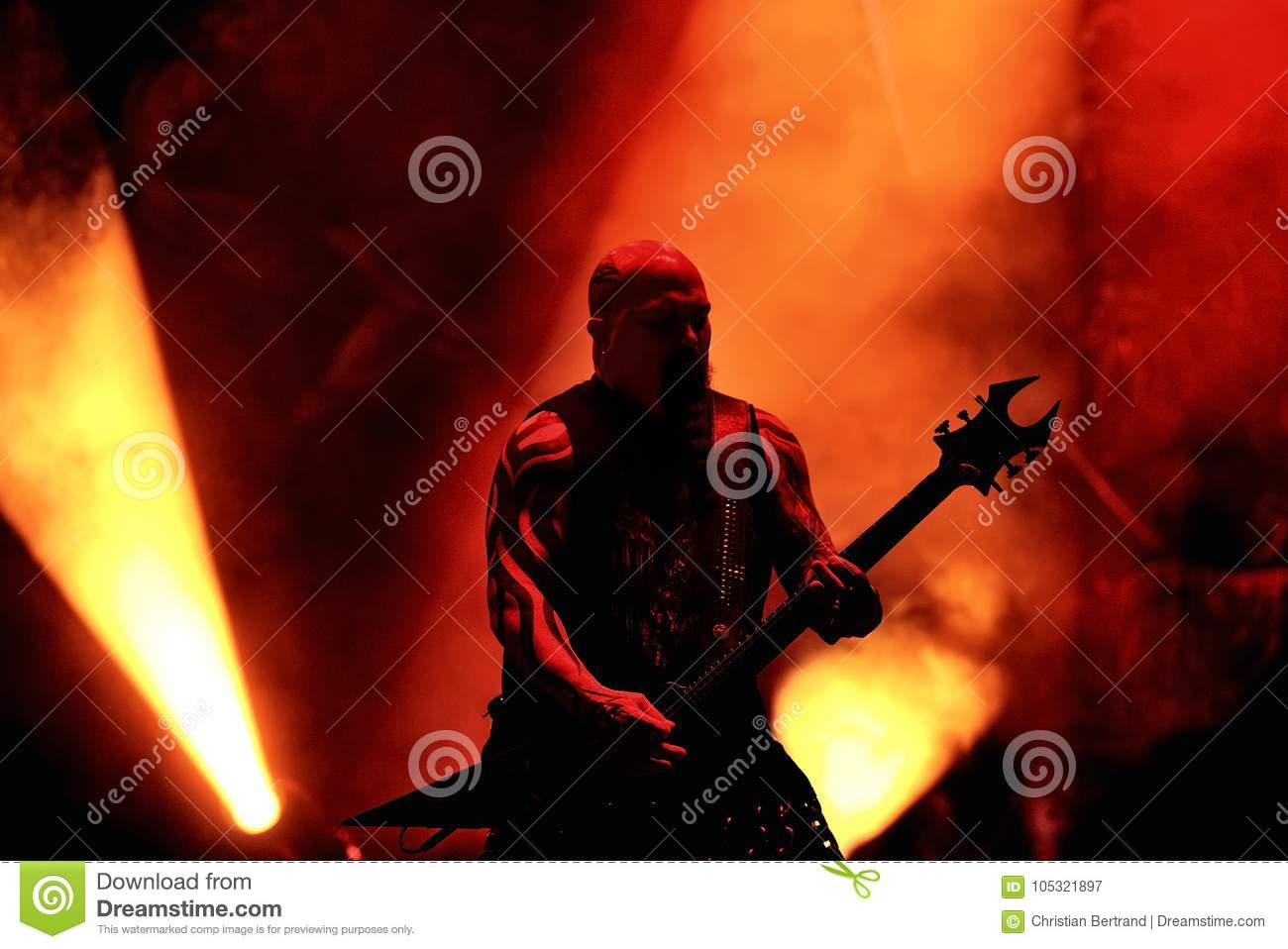 Slayer Heavy Metal Music Band Perform In Concert At Primavera Sound