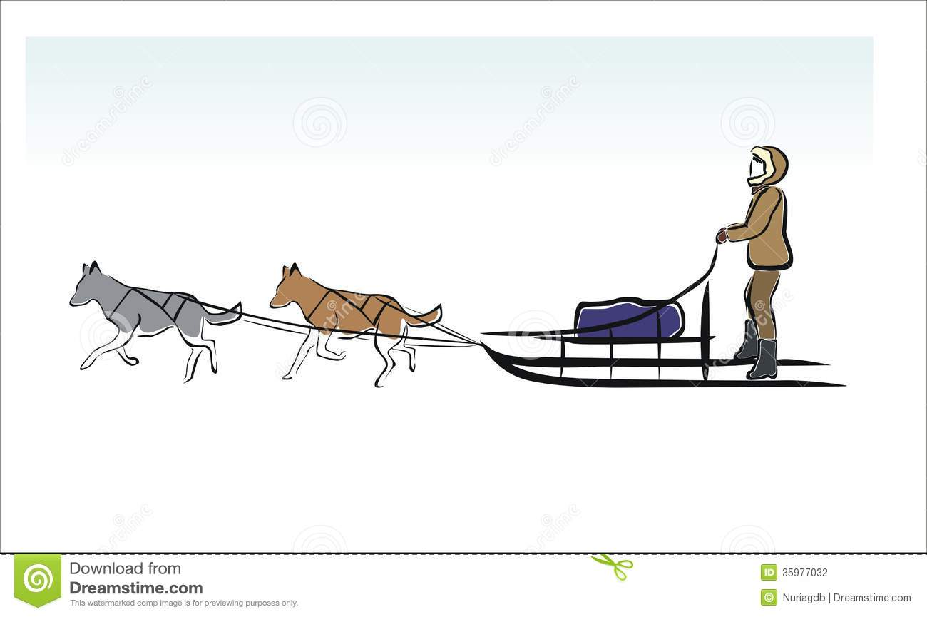 Dog Mushing Clip Art Malamute stock illustrations, vectors, & clipart ...