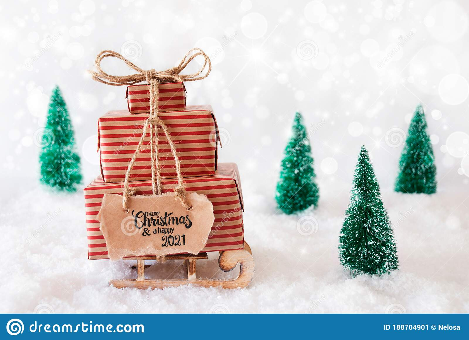 Merry Christmas 2021 Pictures Gray Sled Present Snow Merry Christmas And A Happy 2021 Gray Background Stock Image Image Of Calligraphy Snowy 188704901