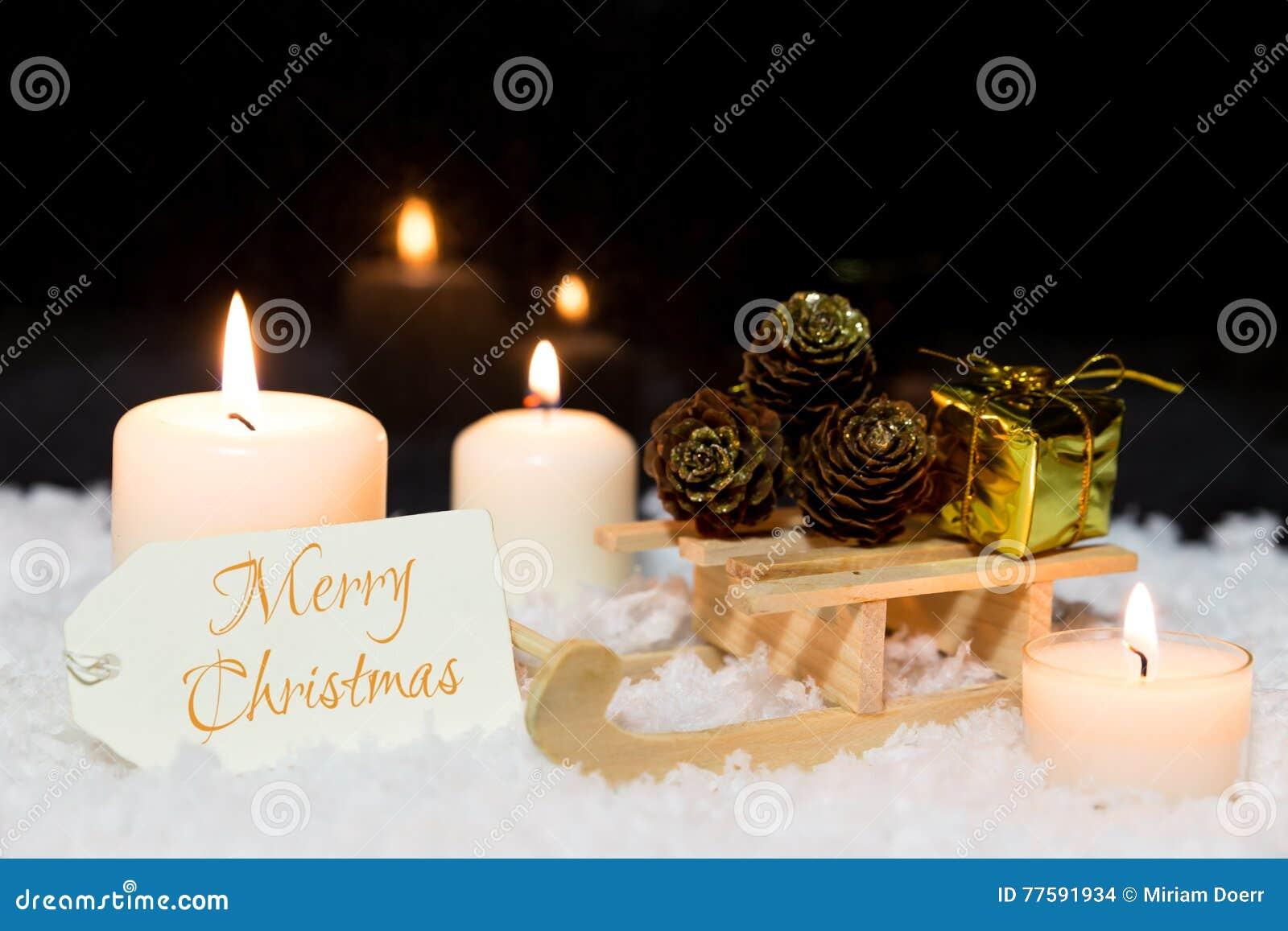 German Christmas Ornament Candles