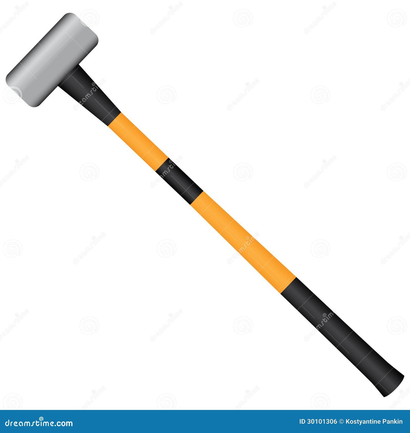 Sledgehammer stock vector. Image of illustration, collapse ...
