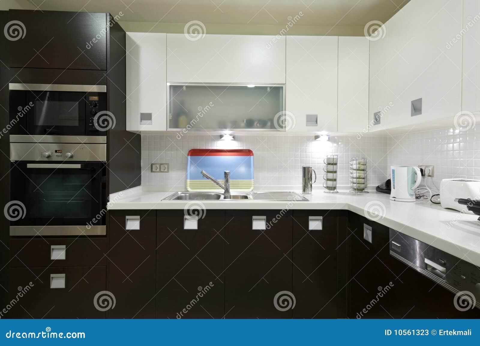 Sleek Modern Kitchen Stock Image Image Of Microwave 10561323