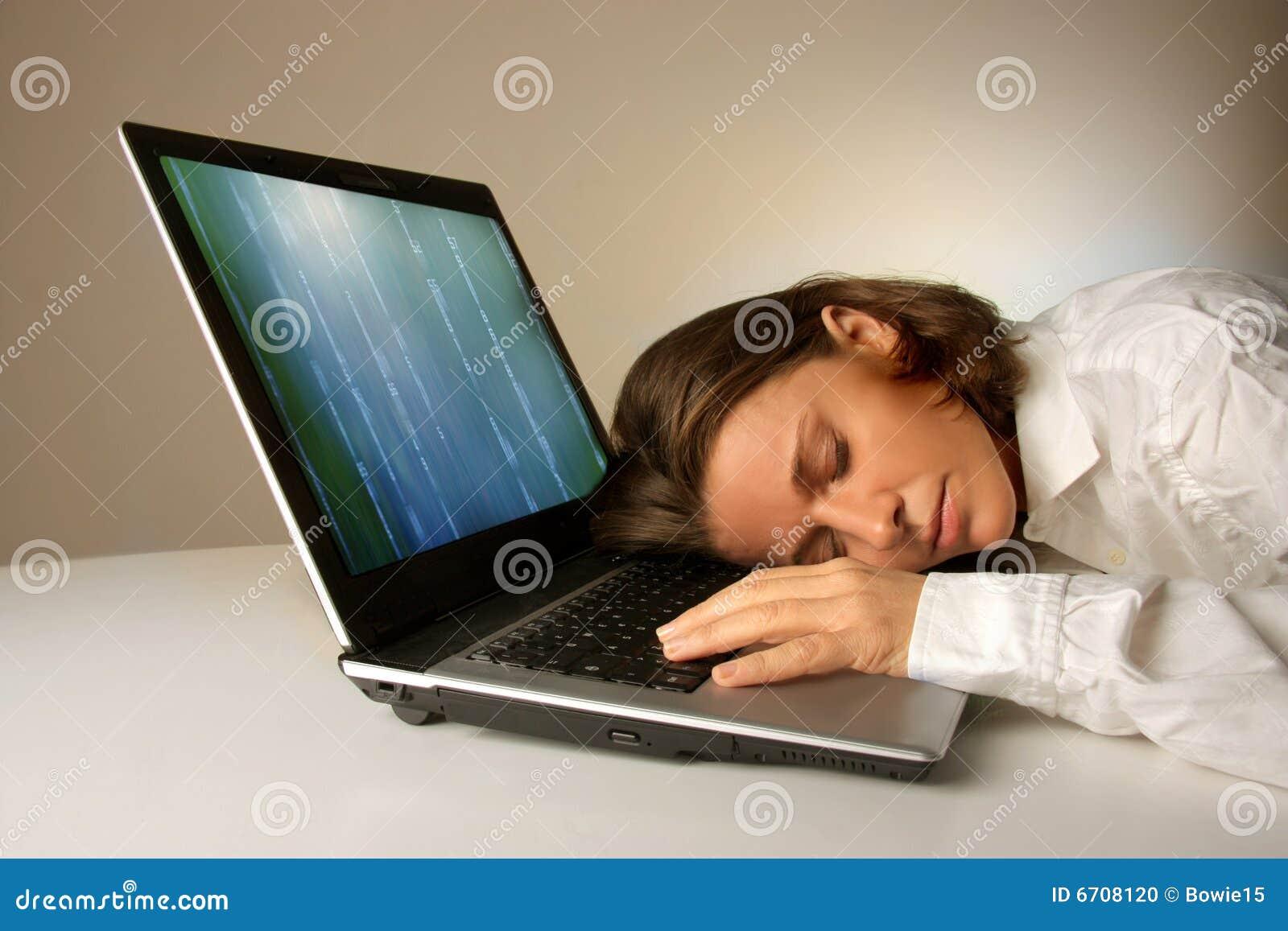 Sleep on a laptop
