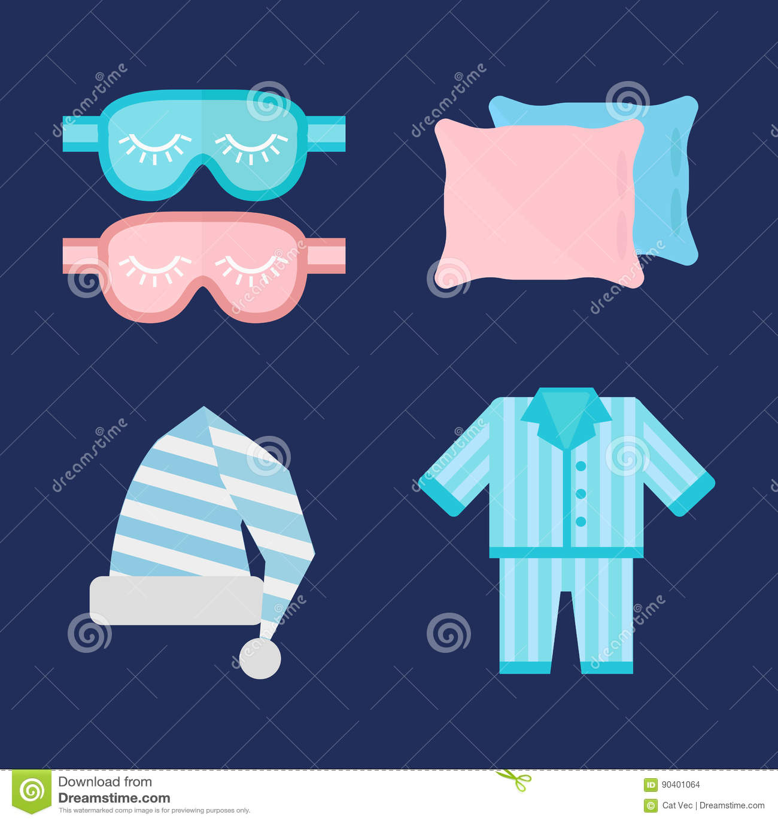 Sleep Pajamas Icon Vector Illustration Bed Sign Symbol