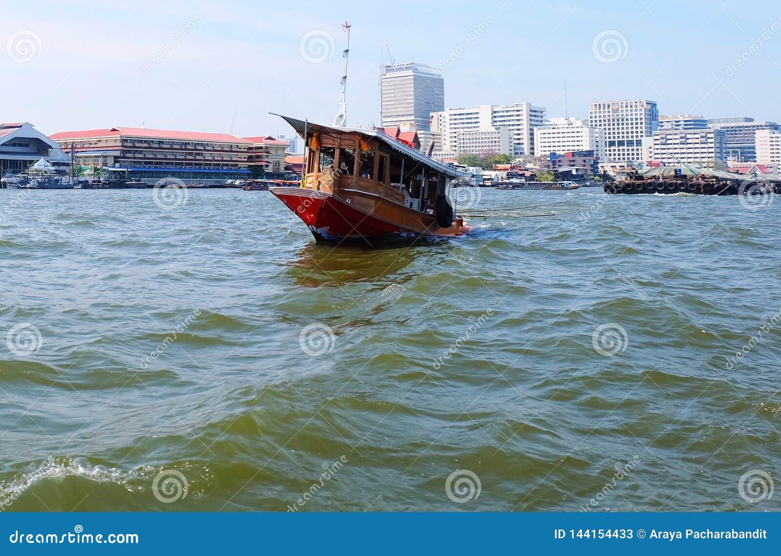 Sleepboot in Chao Phraya River Bangkok, Thailand