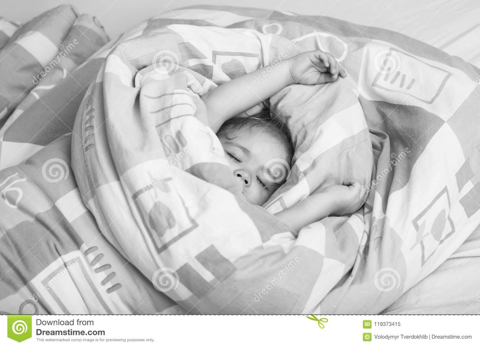 Sleeping Baby Childhood And Happiness Stock Image Image Of Little Cheerful 119373415