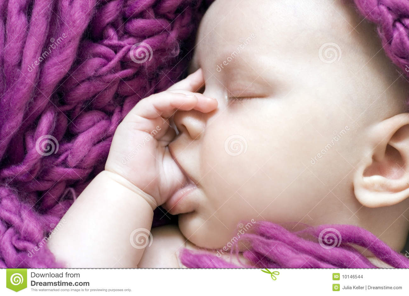 Sleeping Baby Girl Stock Photo Image Of Girl Closed 10146544