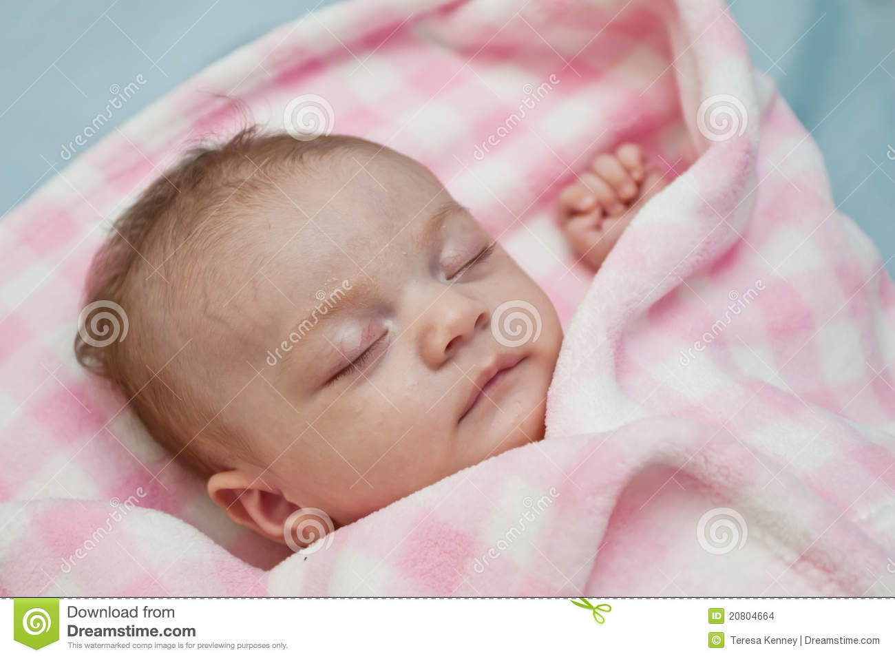 Sleeping Baby Girl Stock Images - Image: 20804664