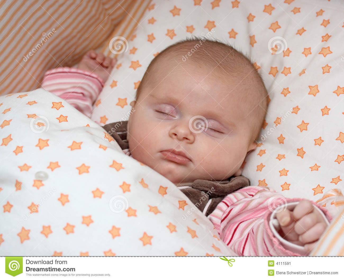 Sleeping Baby Girl Stock Image - Image: 4111591