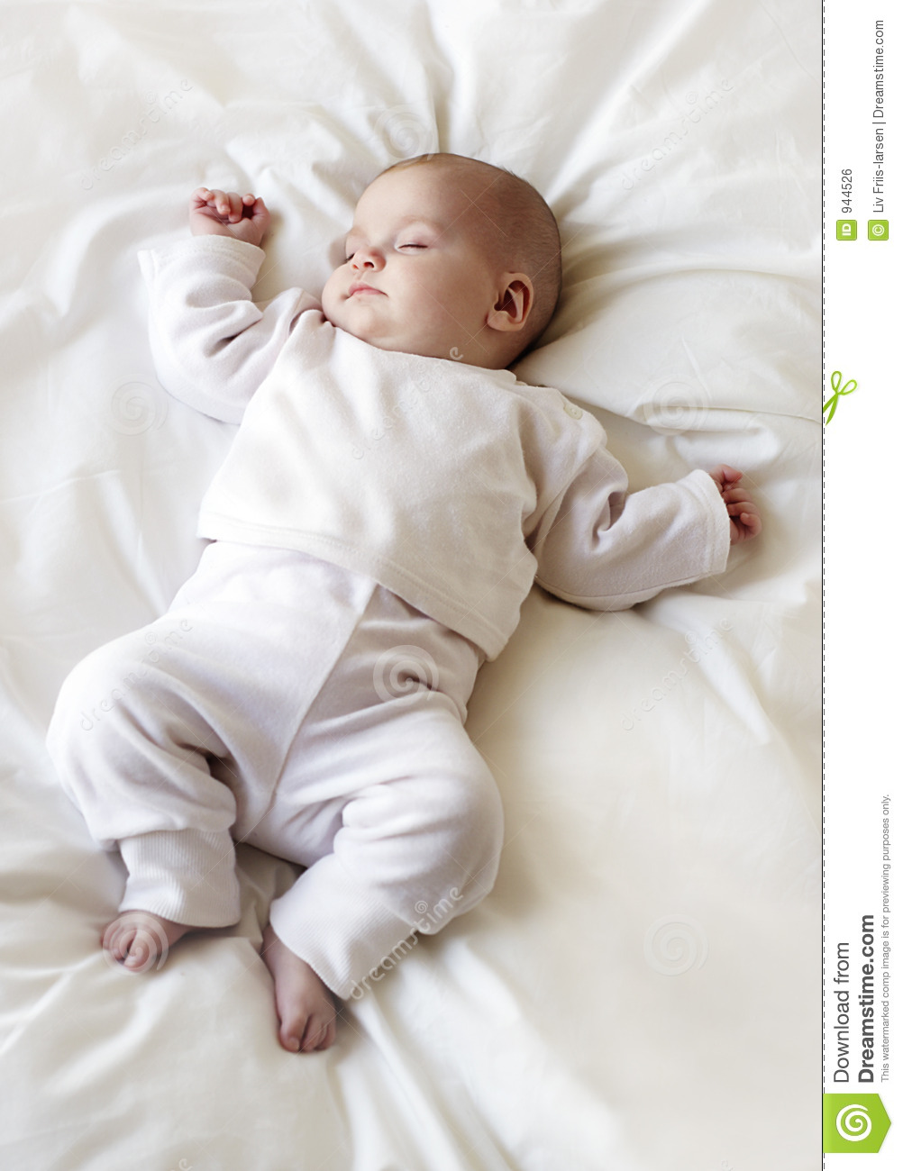 Sleeping baby girl stock photo. Image of soft, sleeping ...