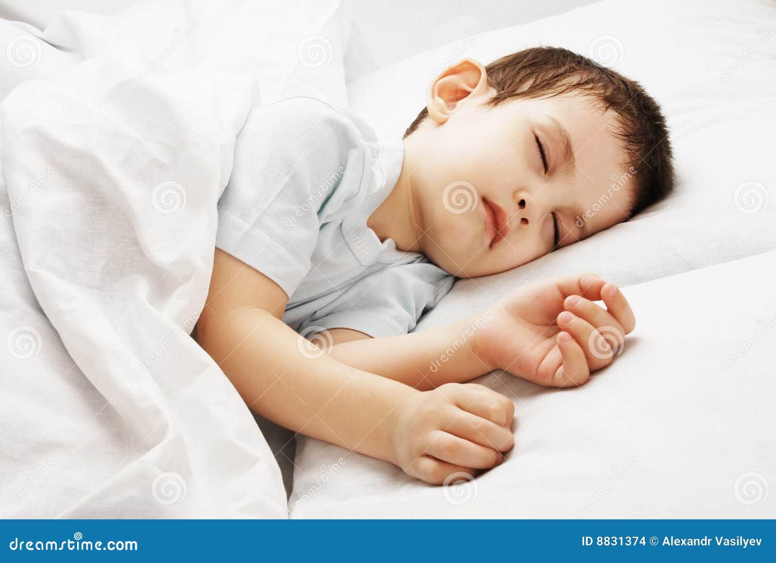 The sleeping boy stock photo image of portrait oversleep for Sleeping bed