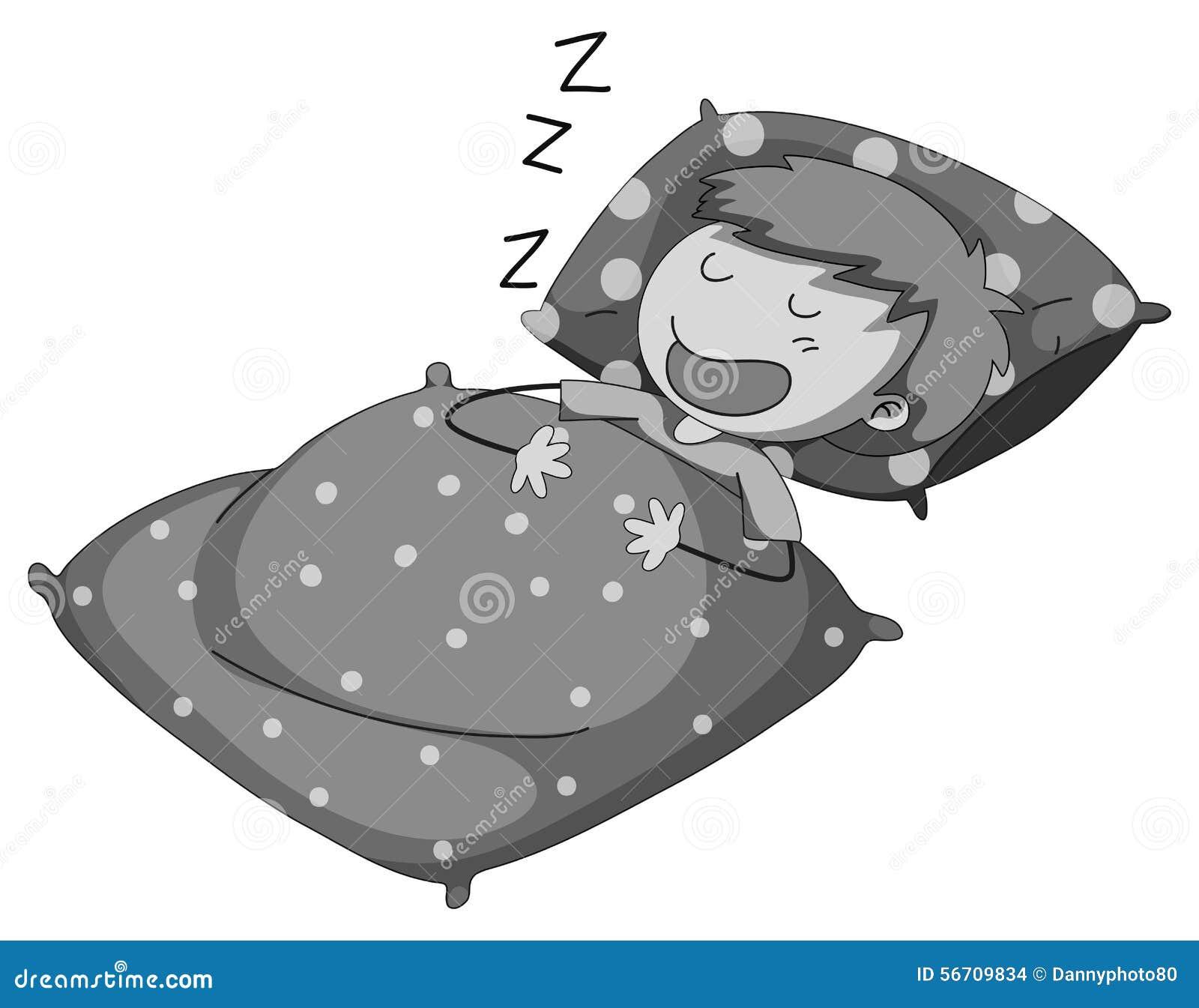 Sleeping stock vector illustration of alone theme single