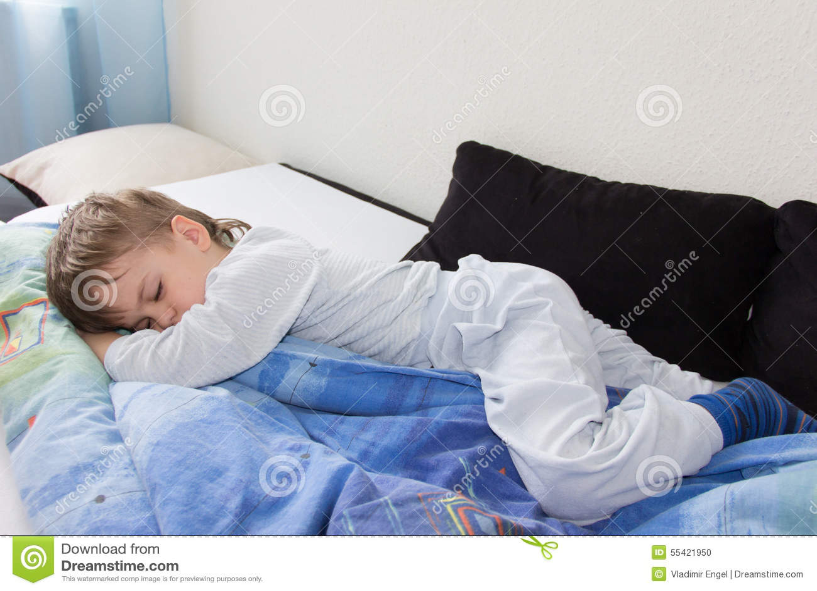 Sleeping Boy Son Relax Dreaming Child Stock Photo