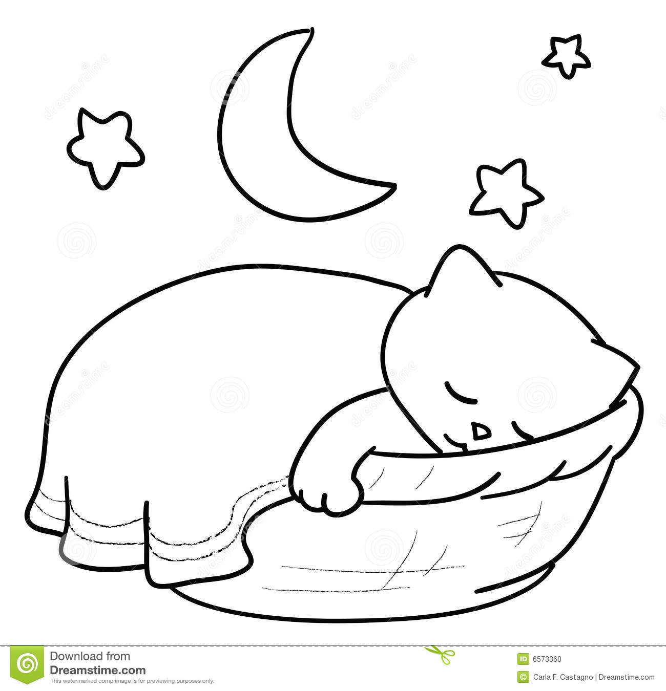 Cat Bed Clipart