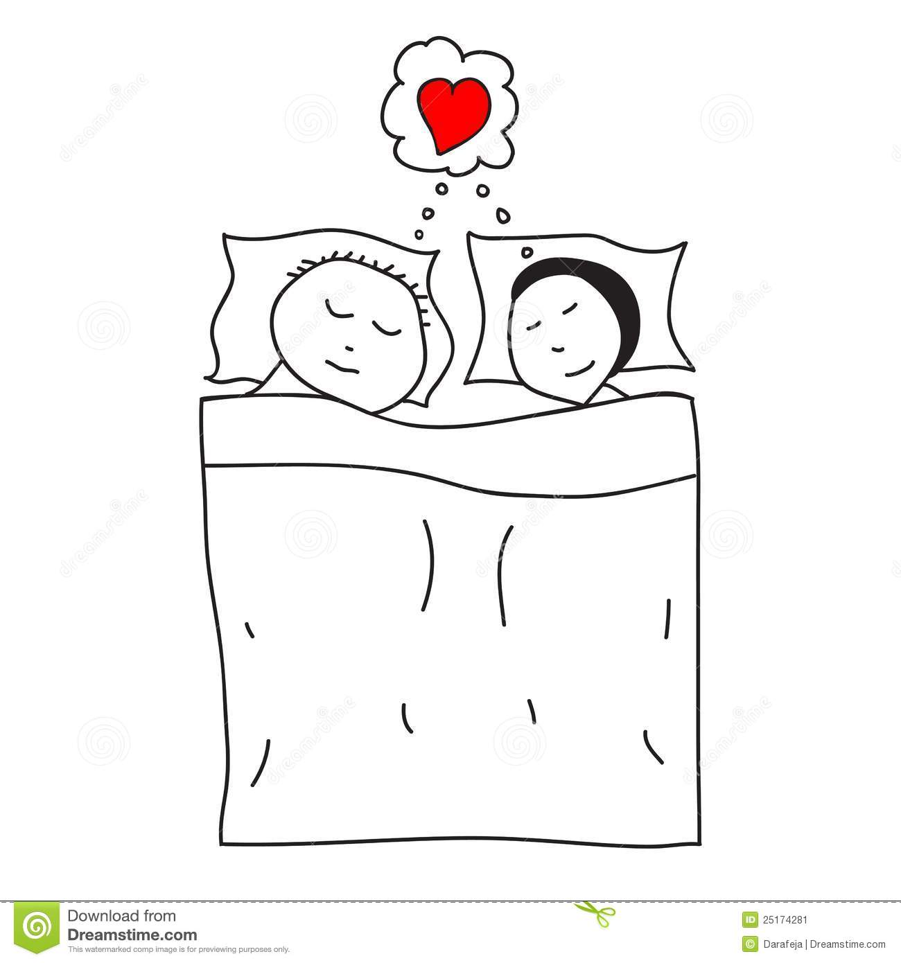 Sleeping Couple In The Bed Stock Image - Image: 25174281