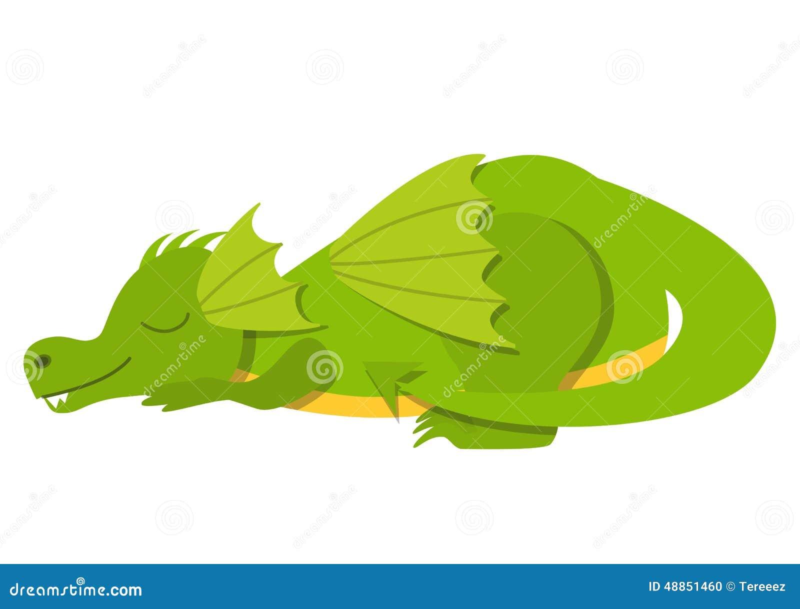 Sleeping Cute Dragon Stock Illustration Image 48851460