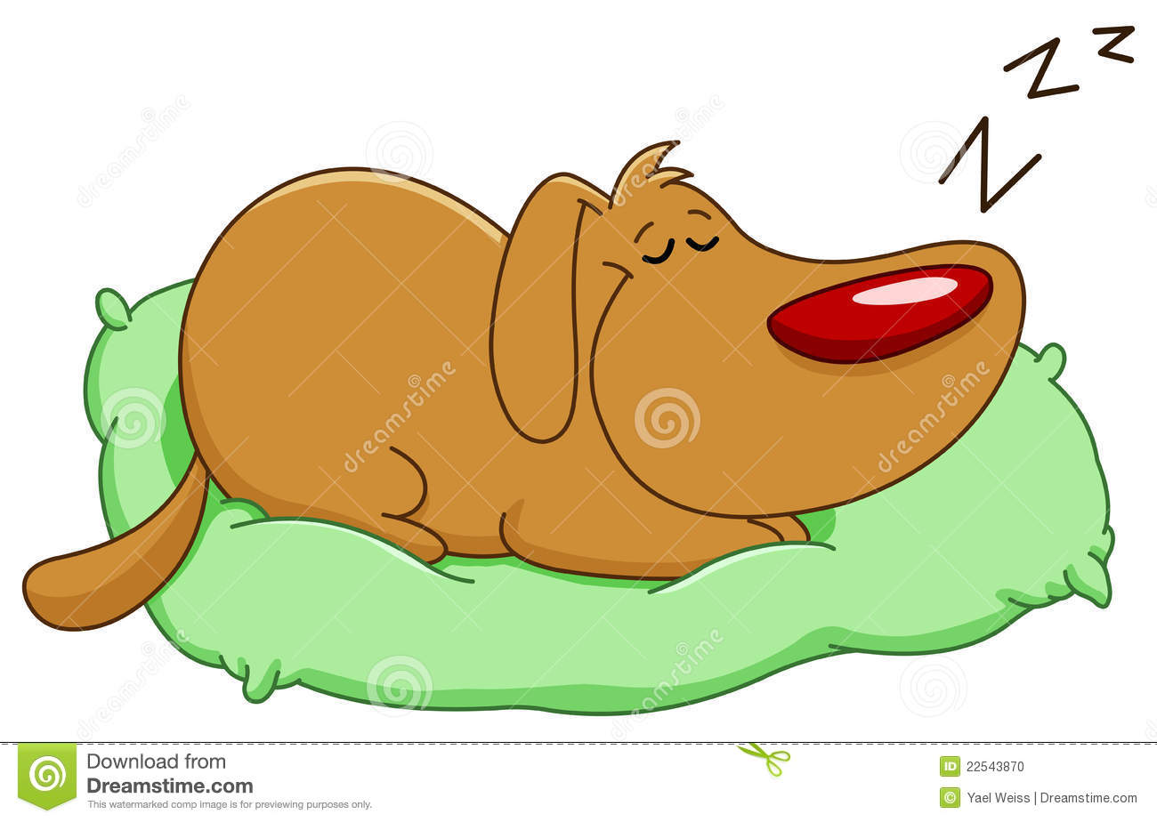 clipart dog in bed - photo #18
