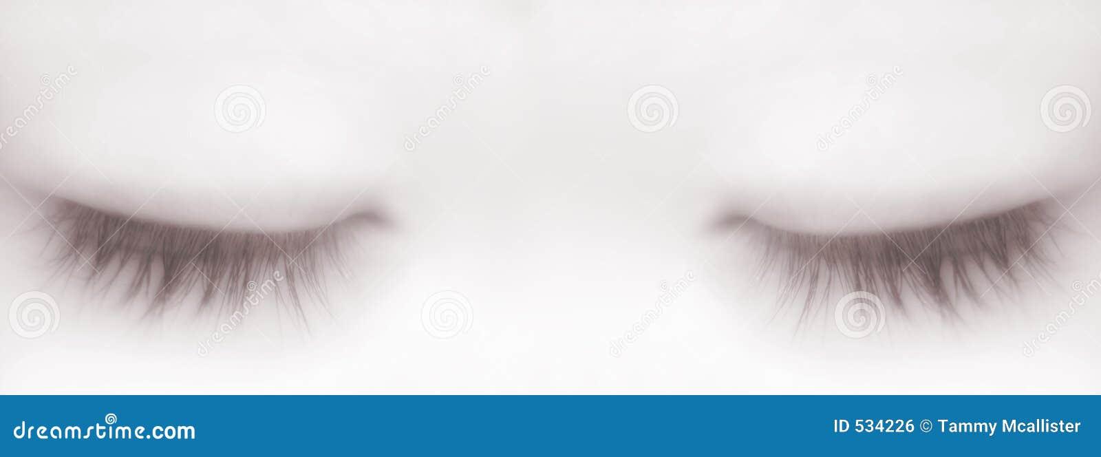 Sleeping eyes