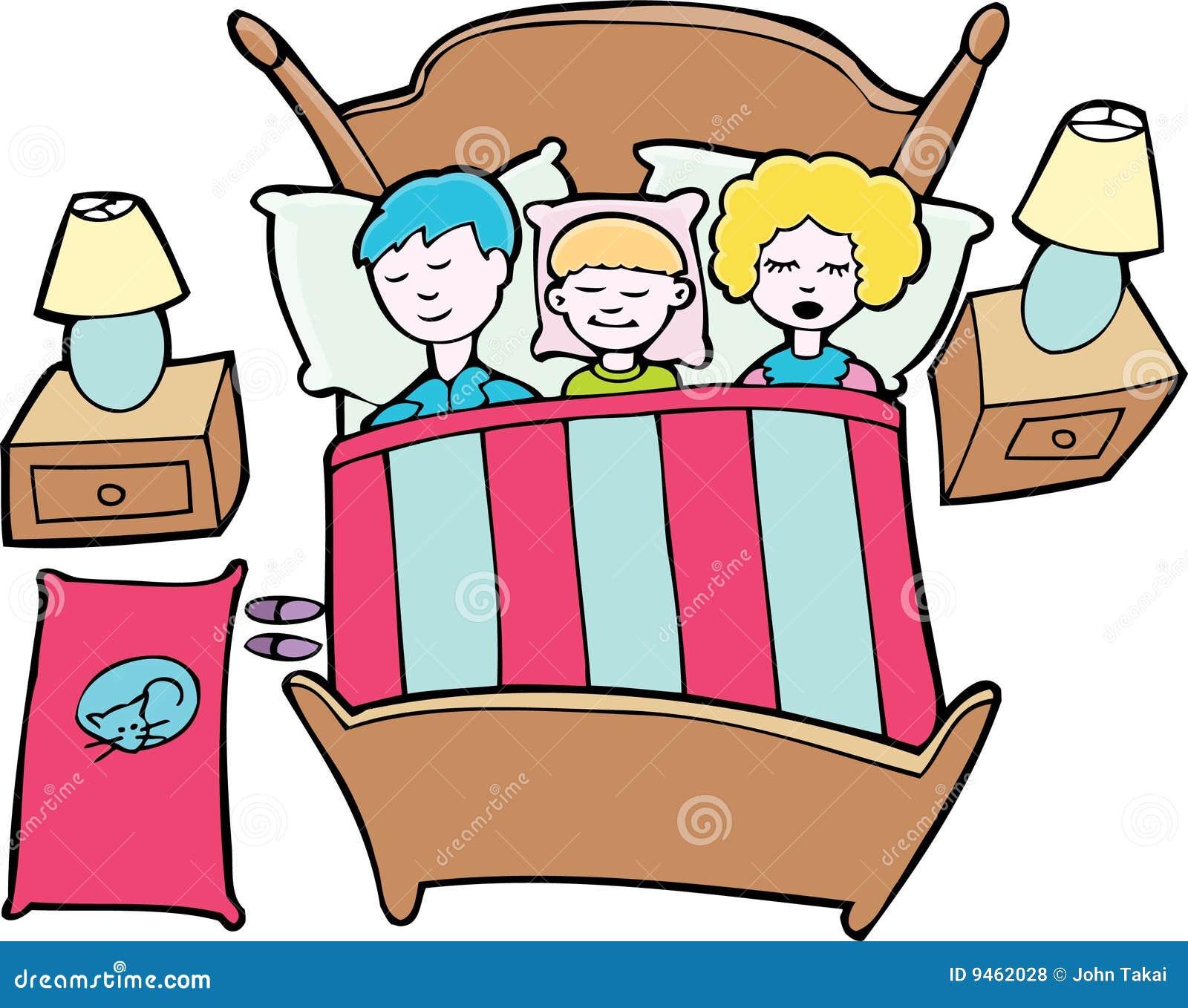 Sleeping Family Royalty Free Stock Photos - Image: 9462028