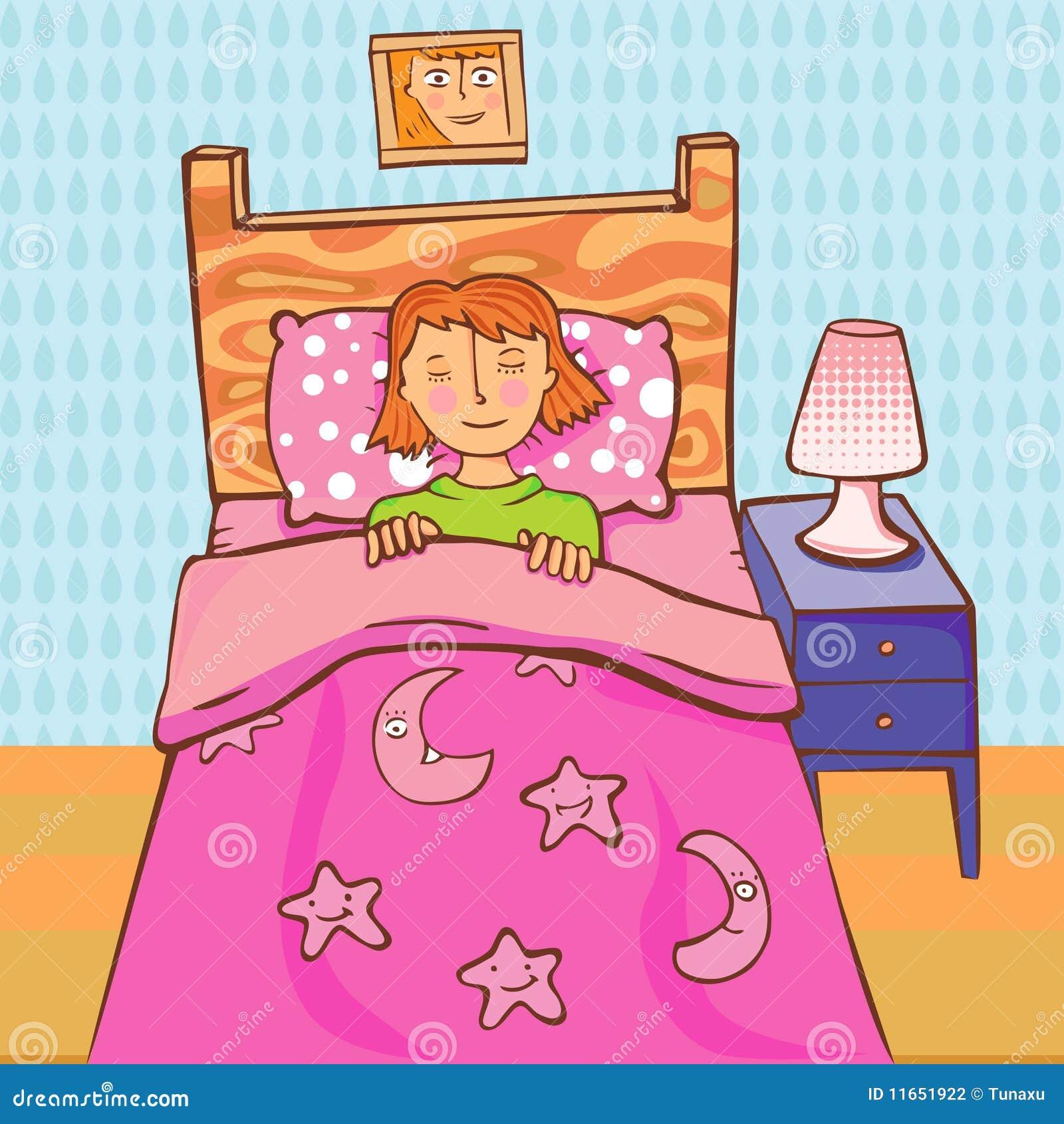 Sleeping girl stock vector. Illustration of vector, star ...