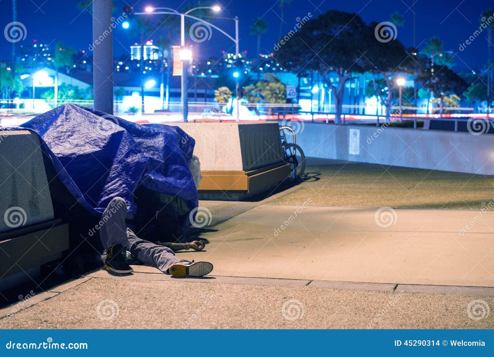 Sleeping Homeless Men