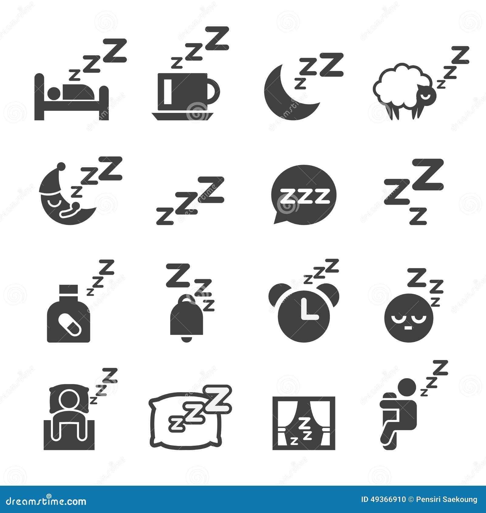 Sleeping Icon Stock Vector Image 49366910