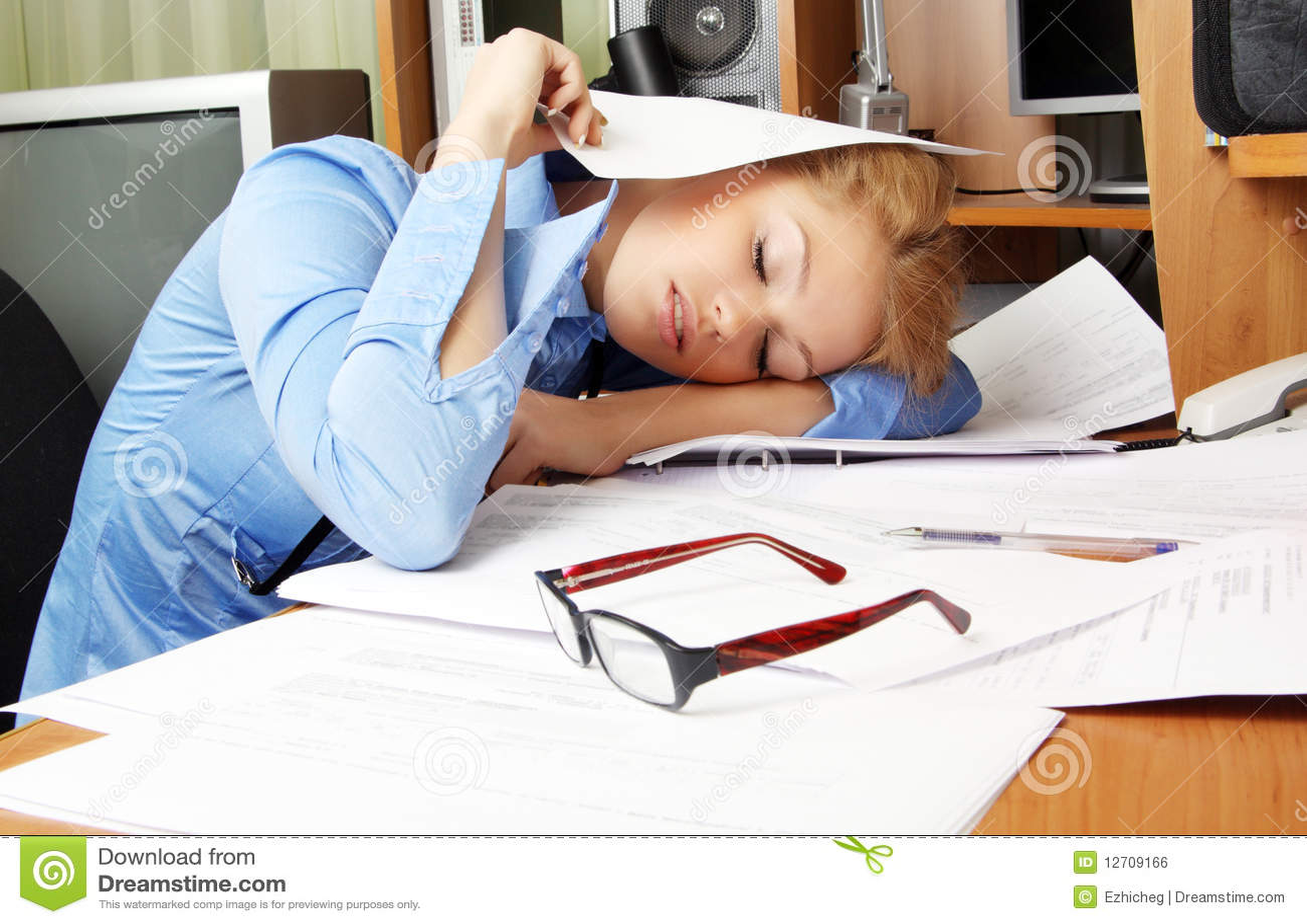 Sleeping on the job royalty free stock image image 12709166