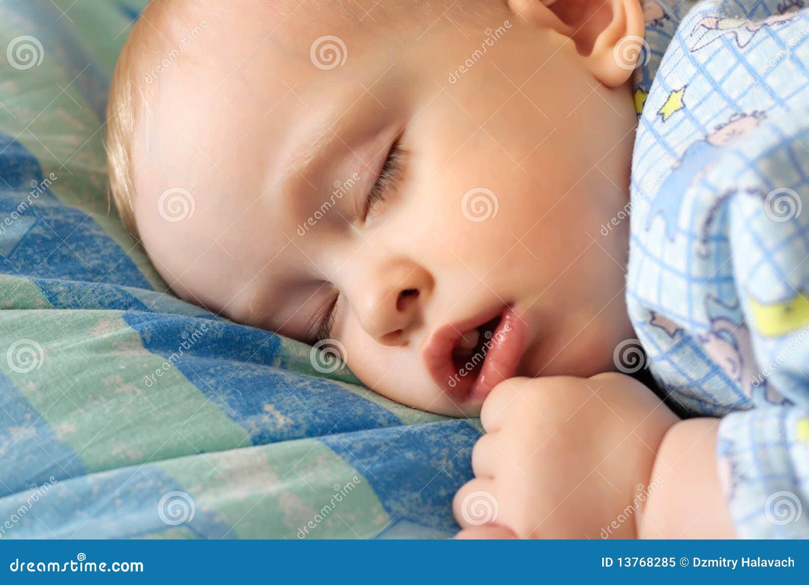 The Sleeping Little Boy Royalty Free Stock Photo Image