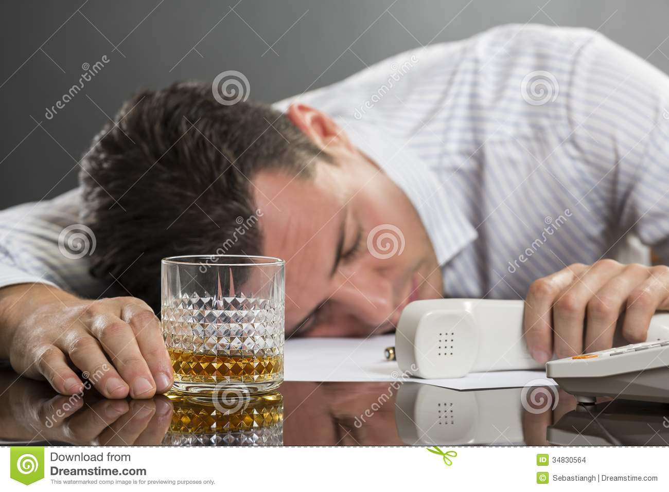 Sleeping Man With Drinking Problems Stock Photo - Image ... Receiver Person
