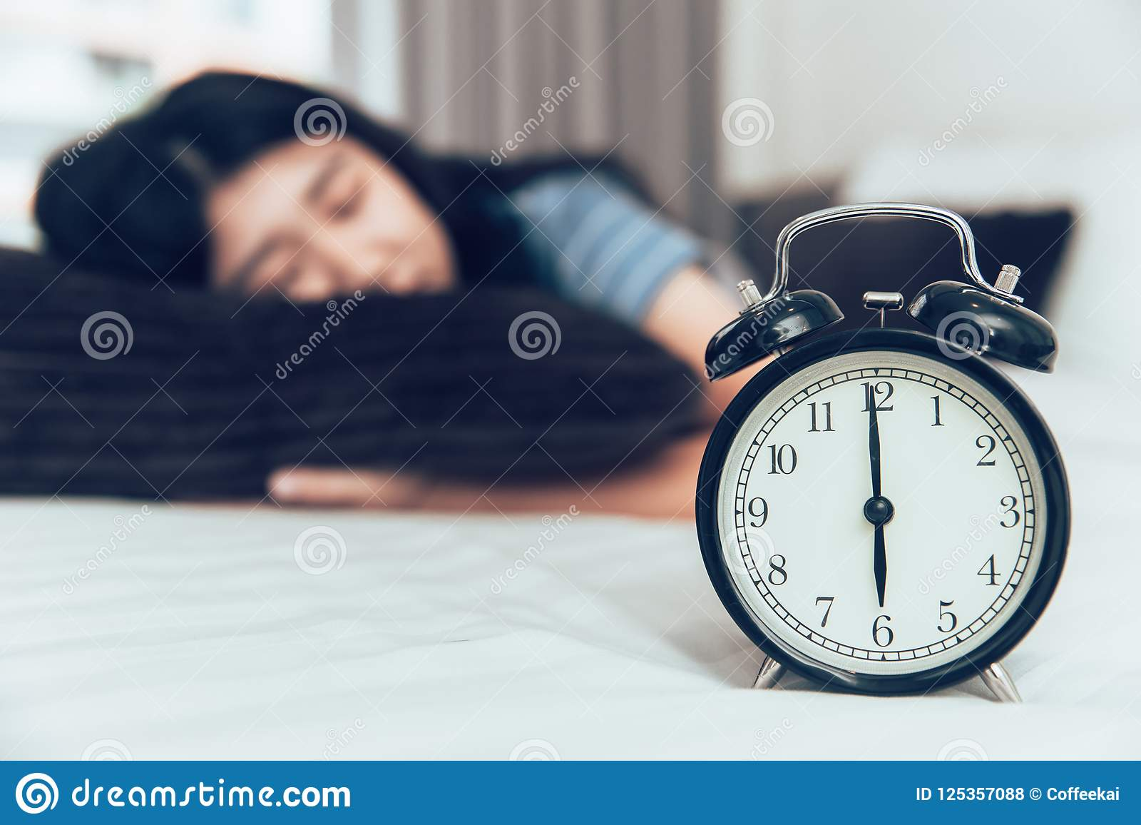 Sleeping or napping rest from tired day time