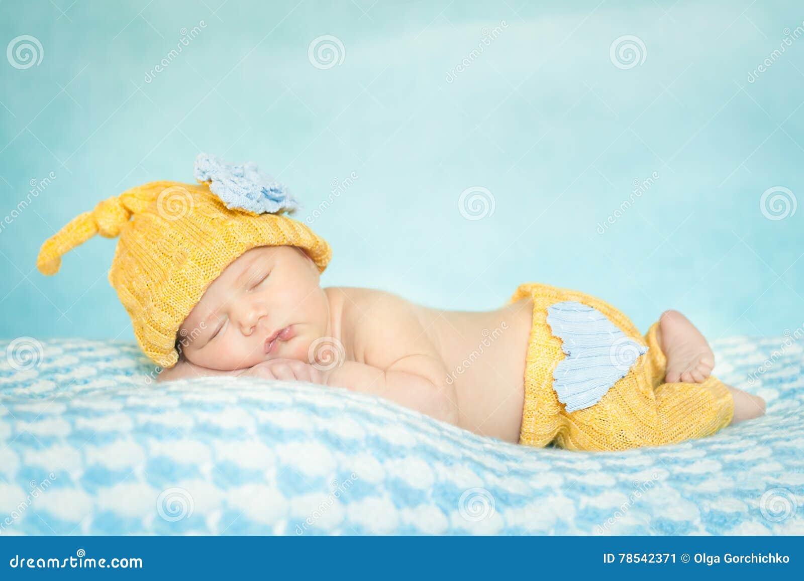 Sleeping Newborn Baby Stock Image Image Of Adorable 78542371