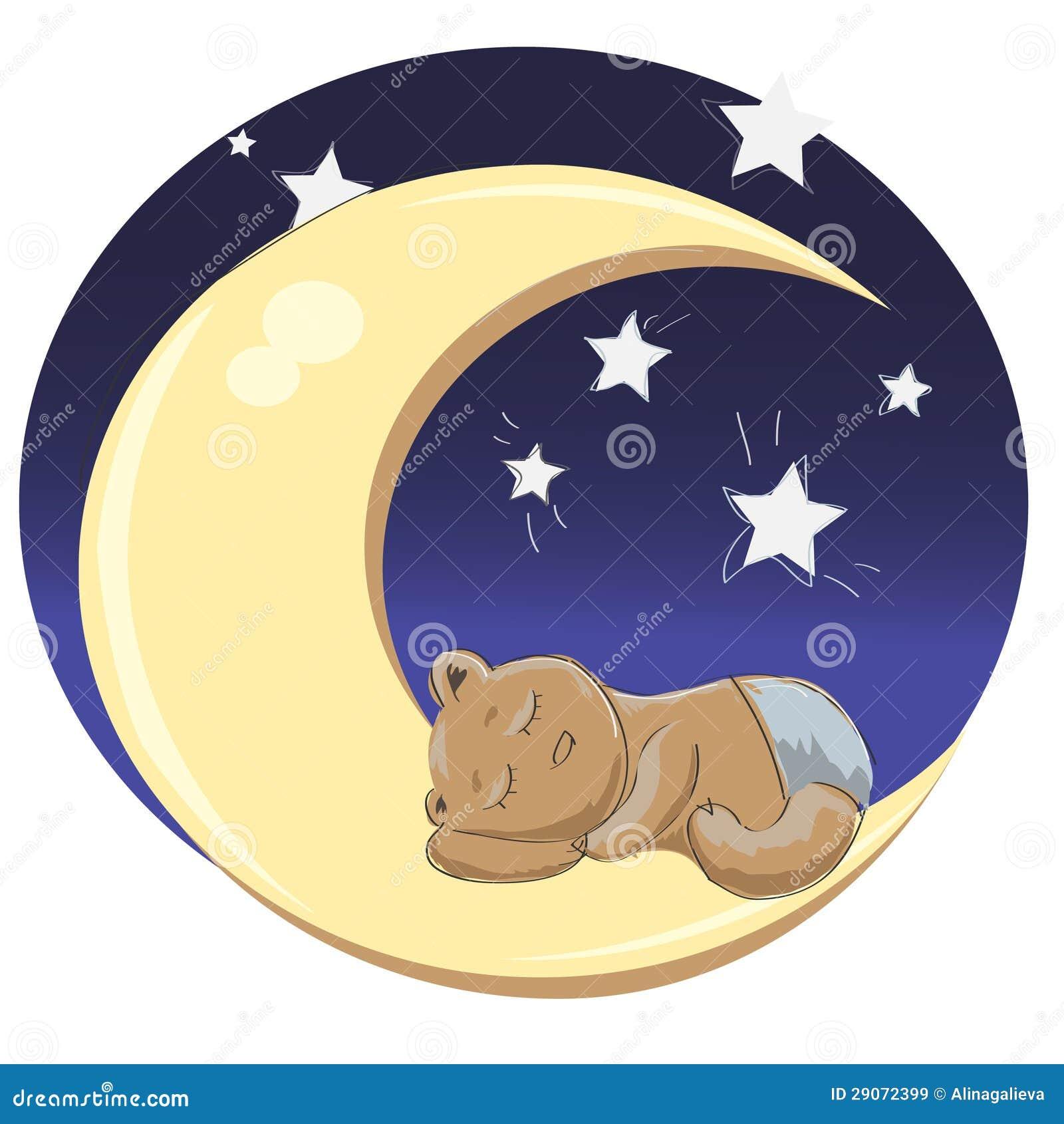 sleeping teddy bear boy stock vector illustration of adorable