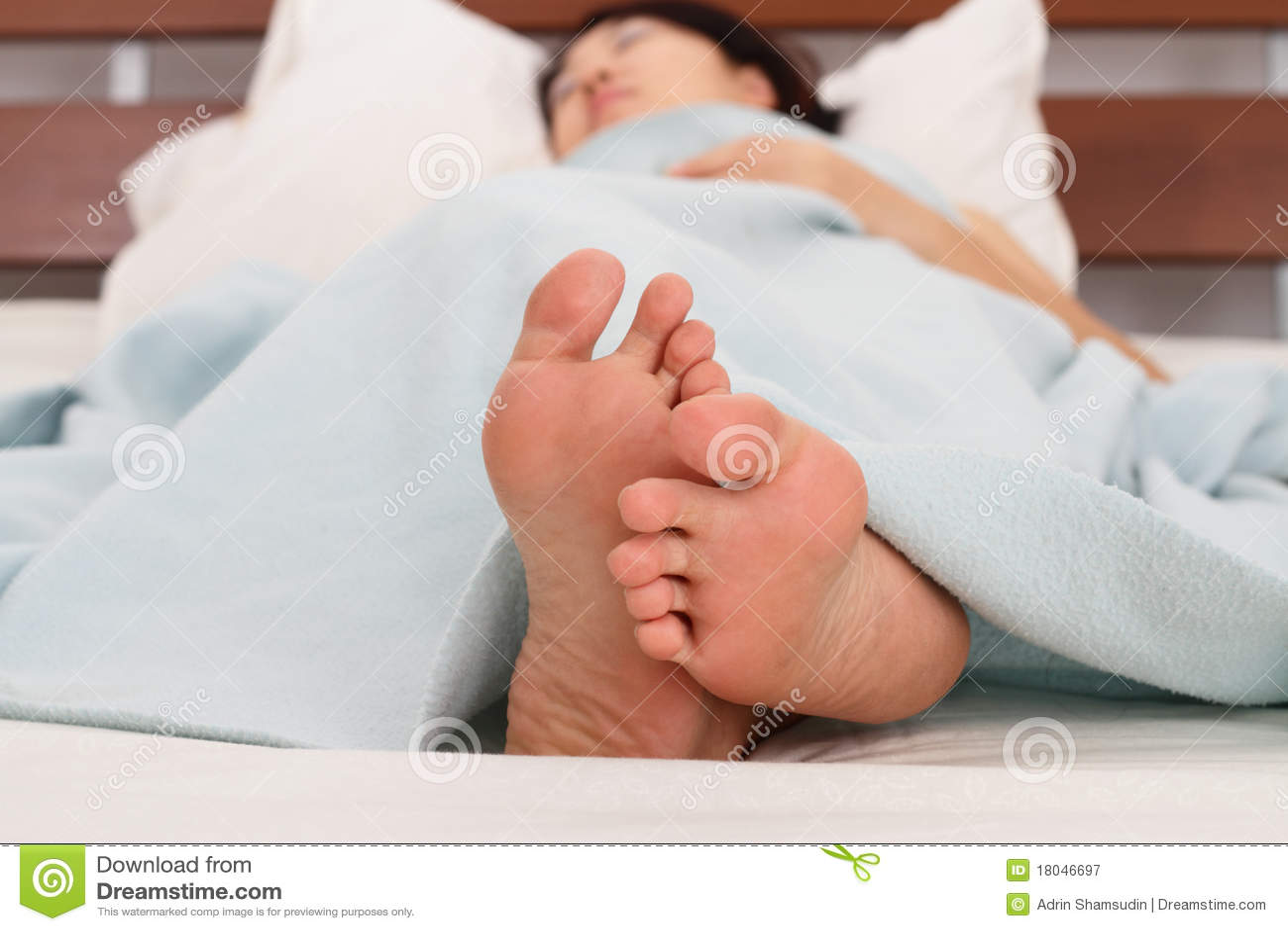 Sleeping Woman's Feet Royalty Free Stock Photography ...