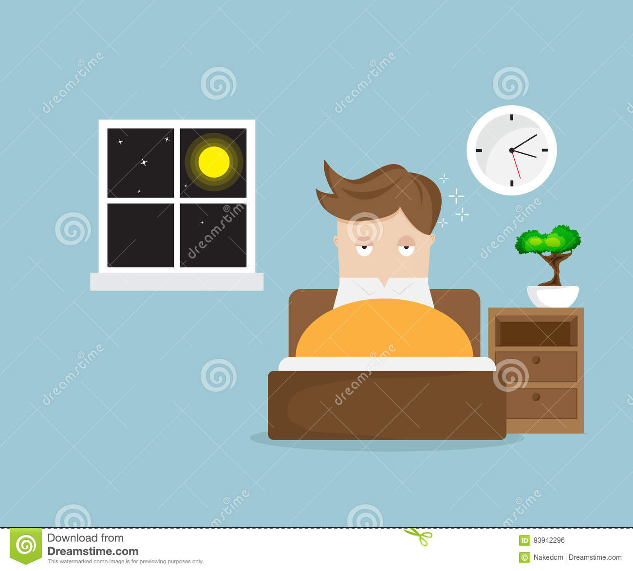 Sleepless Cartoons Illustrations Amp Vector Stock Images