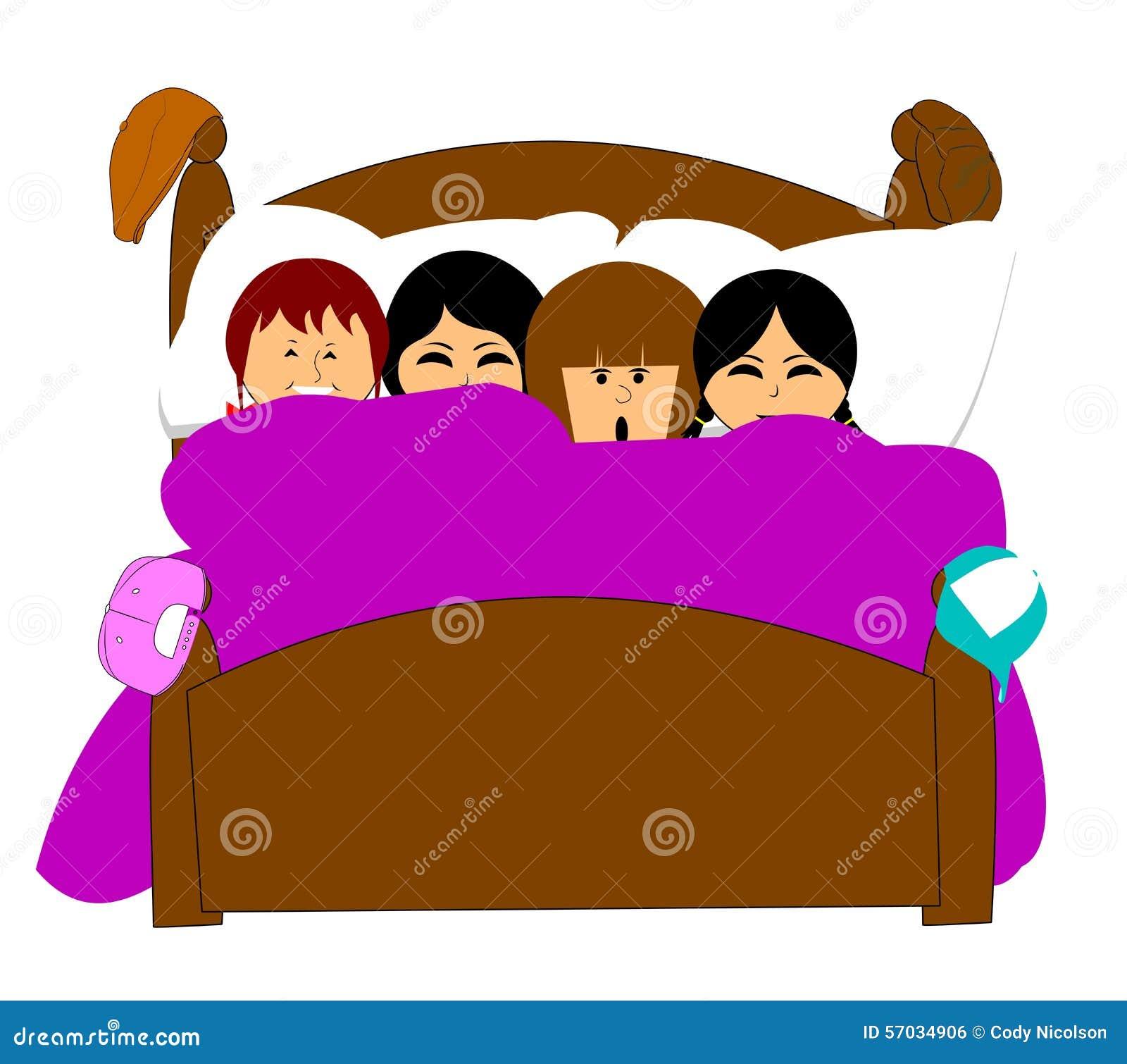 sleepover stock illustration illustration of hair ball 57034906 rh dreamstime com slumber party clipart free slumber party clip art printable