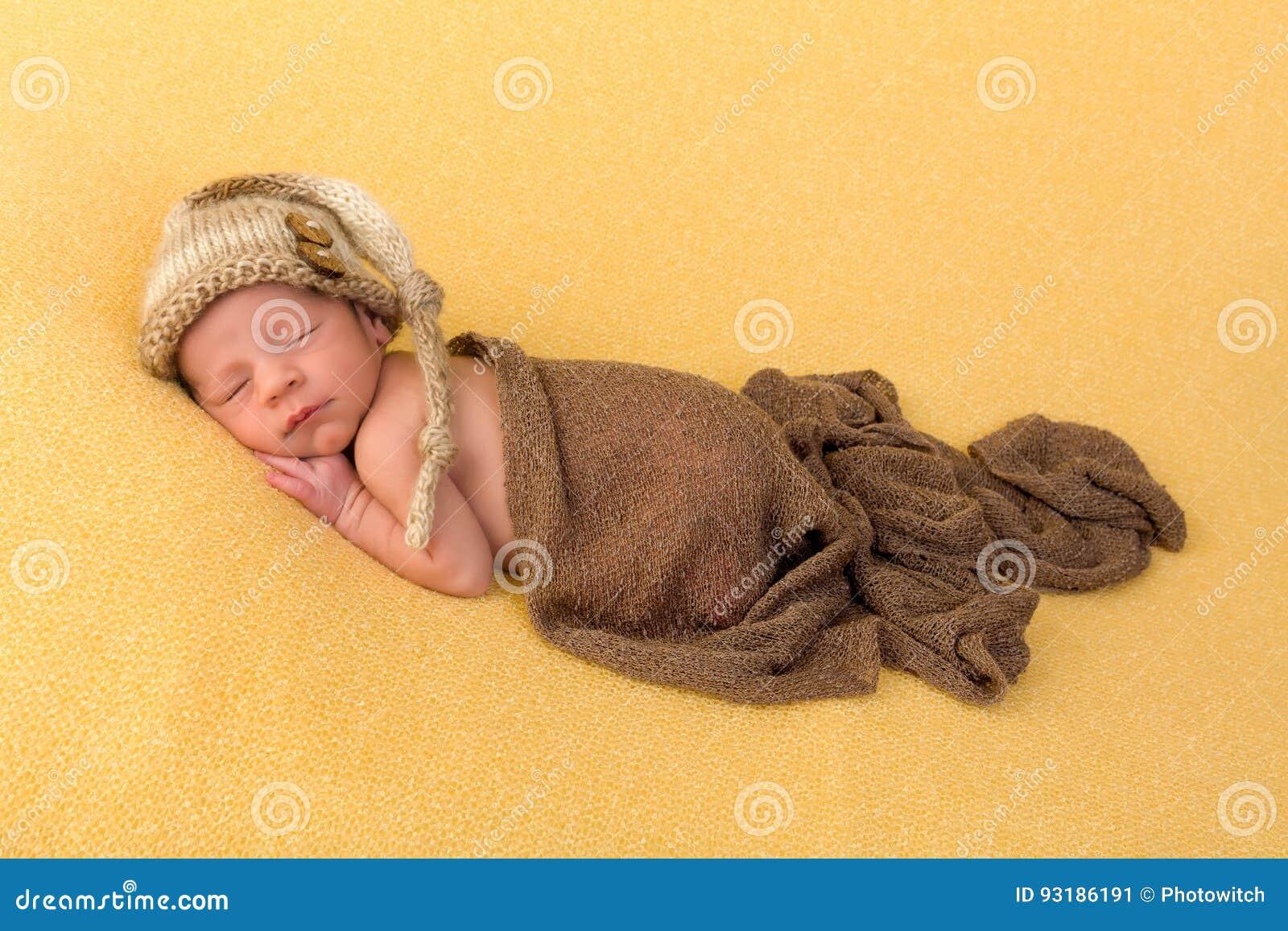 Sleepy newborn baby