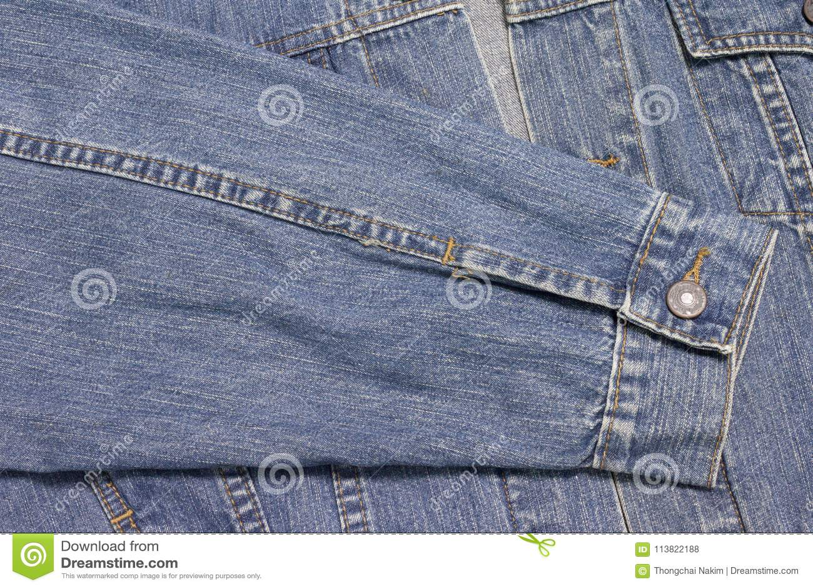 Sleeveless shirt of Jean jacket.