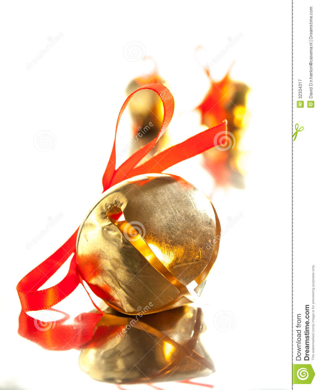 Shiny Golden Sleigh Bell With Red - amcordesign.us
