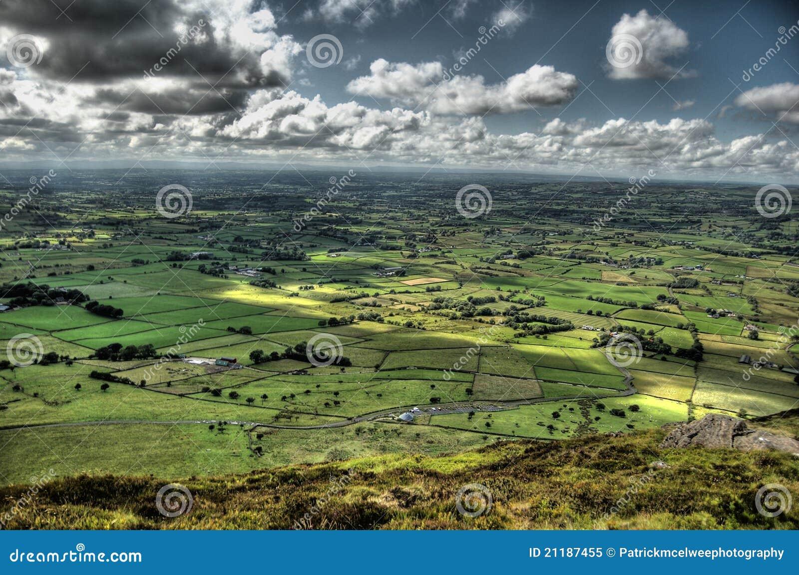 slemish mountain view royalty free stock photo